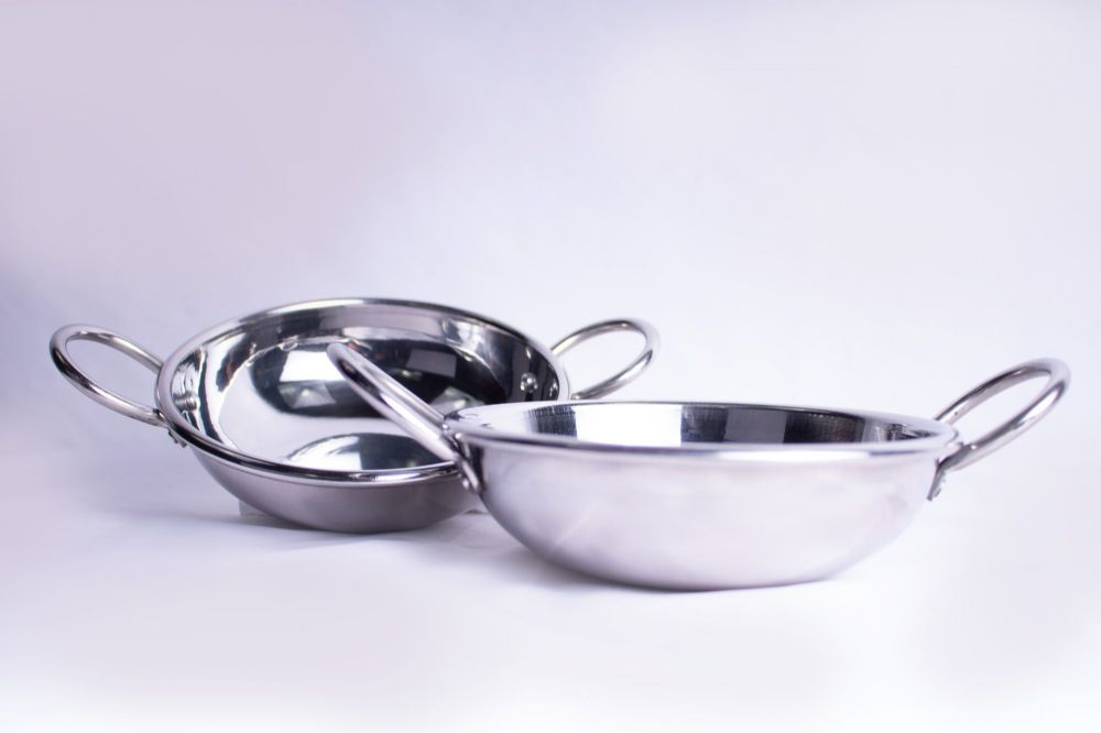 Indian Stainless Steel Kadai Curry Dish